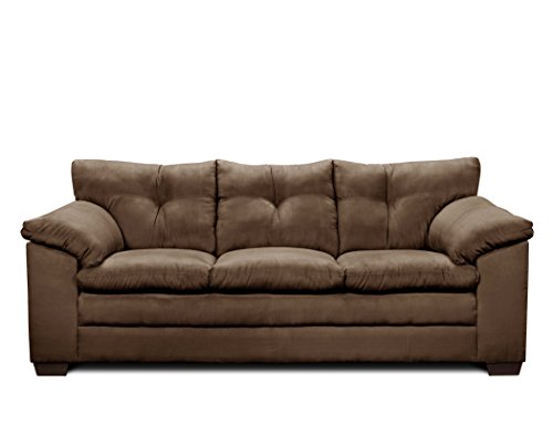 Simmons Upholstery Luna Sofa, Chocolate