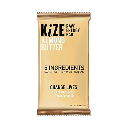 Kize Raw Energy Bar, Almond Butter, 10 Count