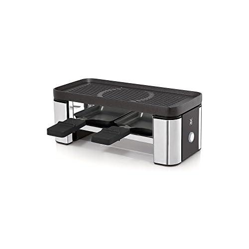 chollos oferta descuentos barato WMF Kuchenminis Parilla Racleta Con Accesorios 370 W Cromargan Revestimiento Antiadherente Negro Plateado