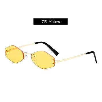 KLXQW Pequeñas Gafas De Sol Hexagonales Mujer Diseñador De ...