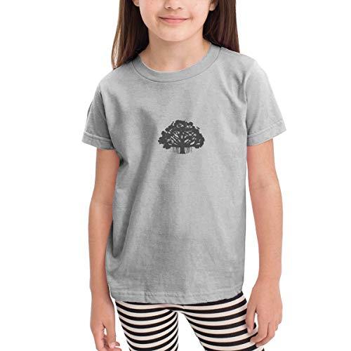 - GMSFZHIDYR Moreton Bay Fig Child Comfort Soft Short Sleeve T-Shirt 2T Gray