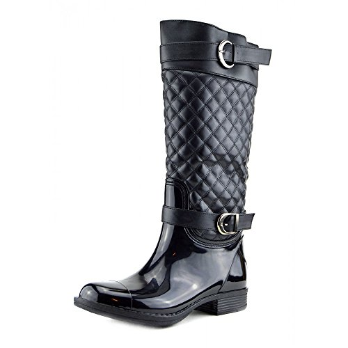 N Foderato Stivali Ladies Pelliccia Zip Nero Wellington Di Alto modello Ginocchio Trapuntato 2 Eqw1qPU
