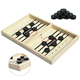 Kongwal Fast Sling Puck Game, Foosball Winner Board Game, Slingshot Game Board, Speed Puck Game Hockey Table Game,Fast Paced Wooden Hockey Game for Parent-ChildInteraction(Medium)