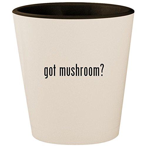 Portabella Mushroom Pasta (got mushroom? - White Outer & Black Inner Ceramic 1.5oz Shot Glass)