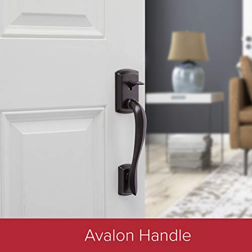 Kwikset 98150-001 Avalon Exterior Handle Only with Tustin Right-Handed and Left-Handed Levers in Venetian Bronze by Kwikset (Image #2)