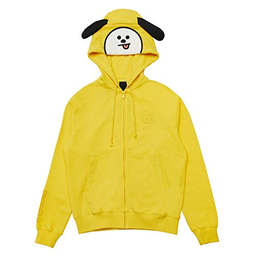 (BT21 Official Merchandise by Line Friends - CHIMMY Costume French Terry Hoodie Sweatshirts for Men and Women, Large,)