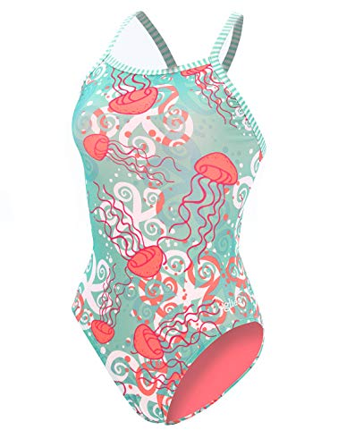 Dolfin Women's Uglies Prints V-2 Back One Piece Swimsuit (Jelly, 32)