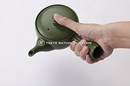 280cc//ml TOKYO MATCHA SELECTION with stainless steel net Japanese Standard Kyusu Teapot : 3 color Standard ship by SAL: NO Tracking /& Insurance Green