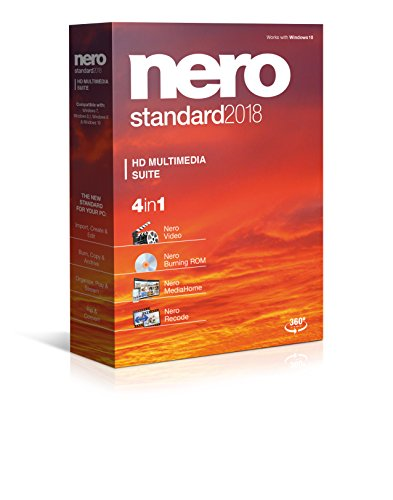 Software : Nero Standard 2018