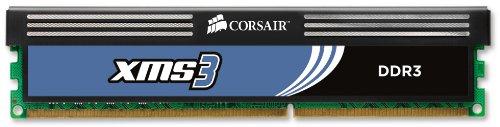 Corsair Memory CMX8GX3M2A1600C9 XMS3 8GB (2x4GB) DDR3 1600 MHz (PC3 12800) Desktop Memory 1.65V by Corsair (Image #2)