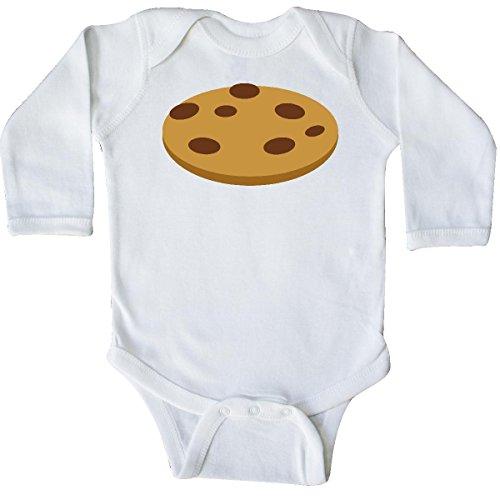 inktastic Chocolate Chip Cookie Long Sleeve Creeper Newborn White