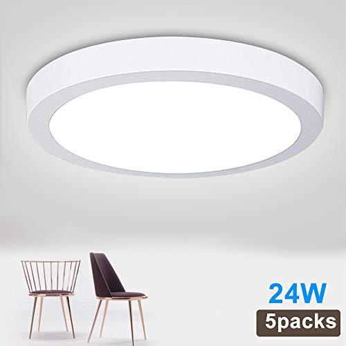 5Pack W-LITE LED Flush Mount Ceiling Light-24W 11.81