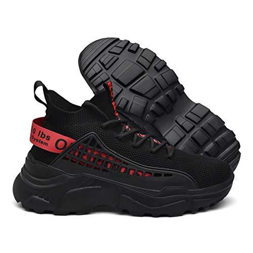 FUSHITON Chaussure Homme Sneakers Baskets Montante Mode Chaussures de Course Marche Respirante Décontractées 3