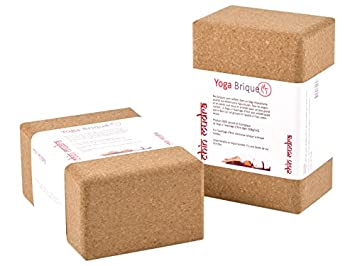 Bloque de yoga, corcho, color lieja, tamaño 6.5Cm