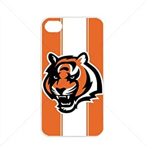 NFL American football Cincinnati Bengals Case For Ipod Touch 4 Cover PC Soft (White)