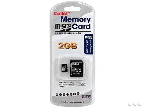 - Cellet MicroSD 2GB Memory Card for Nokia N800 Internet Tablet Phone with SD Adapter. (Lifetime Warranty)