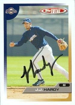 J.J. Hardy autographed Baseball Card (Milwaukee Brewers) 2005 Topps Total #372 - Autographed Baseball Cards