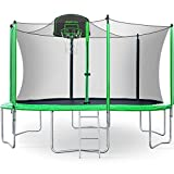 Best Trampolines - Merax 12FT Trampoline with Safety Enclosure Net, Basketball Review