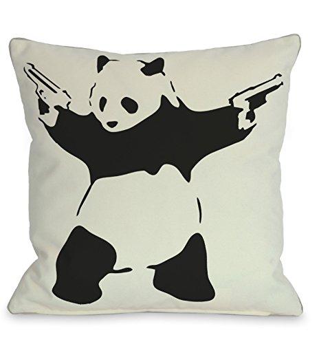 One Bella Casa Panda Throw Pillow by Banksy, 16
