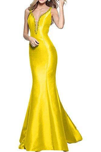 Lang Gelb Meerjungfrau Ballkleider Abendkleider Neuheit Brautjungfernkleider Damen La Einfach Marie Blau Braut zqT1qaZ