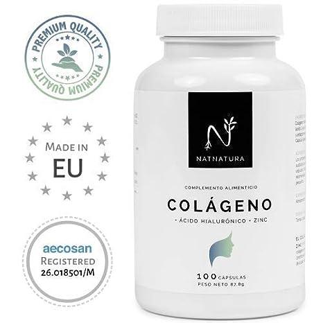Colágeno con ácido hialurónico + Vitamina C + Zinc. Nº1 en Colágeno