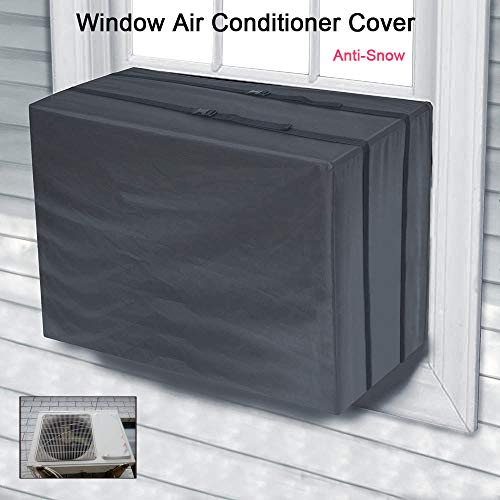 HHmei Air Conditioner Outdoor Unit Accessories Canvas Waterproof Protective cover-645144cm (Canvas 600D Fabric) - Window Air Conditioner Cover for Air Conditioner Outdoor Unit ()