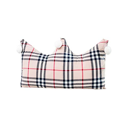 ZHFHAPPY Bed Pillow Headboard Soft Bag Pillow Tatami Double Bed Long Cushion Lattice Large Backrest Removable and Washable (Size : 15075cm) ()