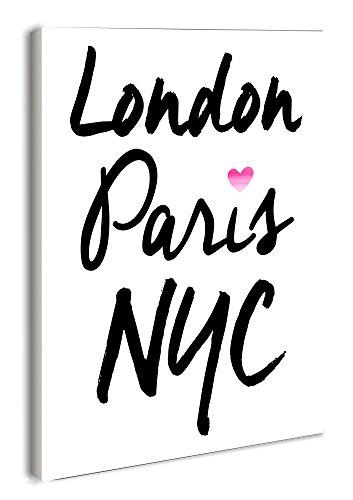 The Stupell Home Decor Collection lulusimonSTUDIO London Paris NYC Rectangle Wall Plaque