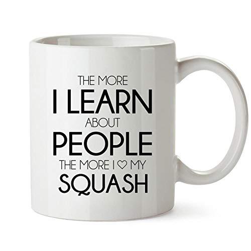 (Idakoos The more I learn about people the more I love my Squash Mug 11 ounces)