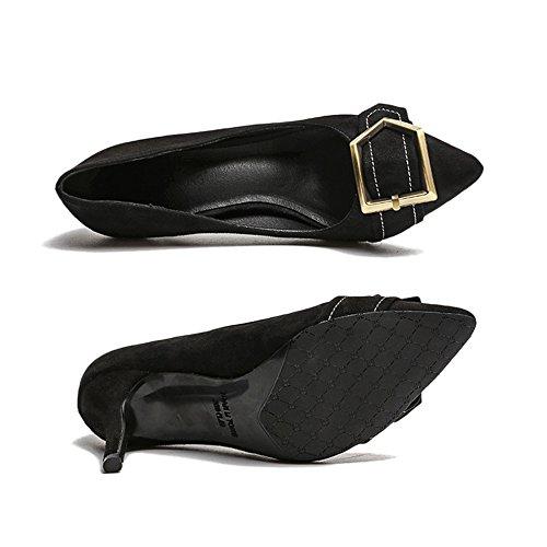 De Para Close Bombas Toe Cy Stiletto Honor Wedding Prom Heels Formal Metal Hebilla Party Slip Dama Ladies Black Classic Mujer On Evening Shoes gAAYndq