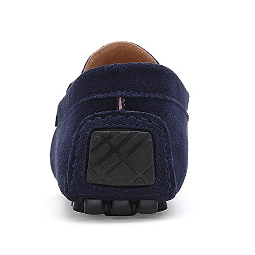 KRIMUS Casual Driving Shoes Loafers � On Slip Suede Classic Mens Moccasins Blue rzqWXfr8