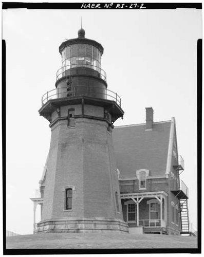 Photo Block Island Lighthouse Mohegan Bluffs RI