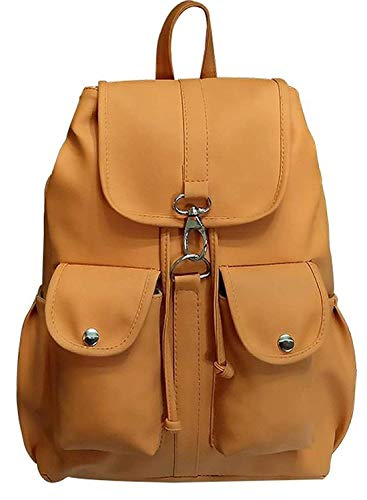 Backpack for Women Stylish | Women Backpack Latest | School Bag for Girls Under | College Bag for Women (Brown) (Mustard)