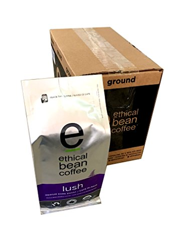 Ethical Bean Coffee - Lush Whole Bean 12 oz (Pack of 6)