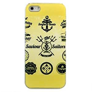 LCJ Gold Anchors Pattern Hard Case for iPhone 5/5S