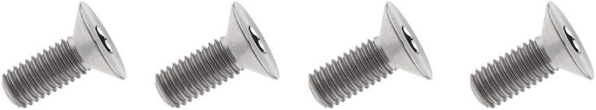 Tornillo de titanio M8 x 15 20 25 30 35 40 45 50 60 65 70 80 90 mm cabeza avellanada tornillos hexagonales paquete de 4 Yaruijia