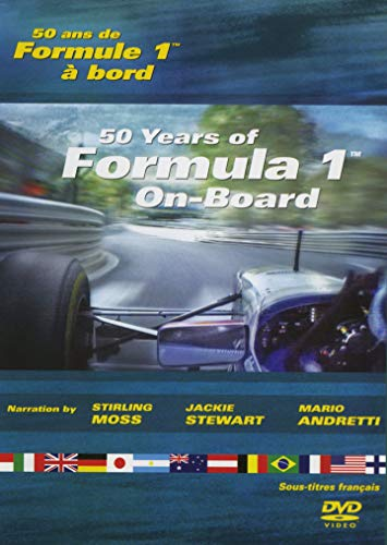 50 years of Formula 1 / 50 Ans De Formule 1 // On-Board / A Bord /Eng/Fre/ Narration By Stirling Moss / Jackie Stewart / Mario Andretti (Best Track Day Helmet)