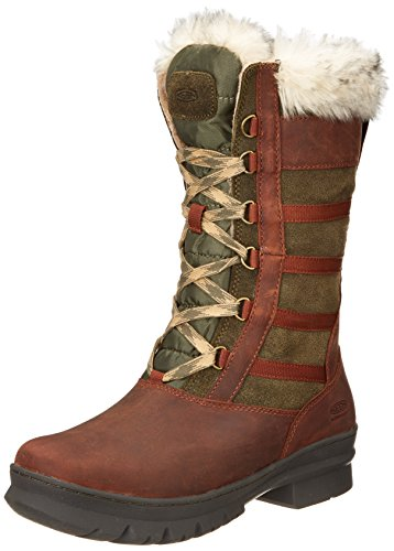 KEEN Women's Wapato Tall WP Winter Boot,Burnt Olive,9.5 M US