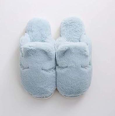 Baby Blue Warm Slippers Slipper For Unisex