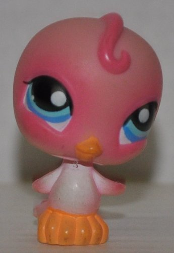 (Bird #205 (Pink, Blue Eyes) - Littlest Pet Shop (Retired) Collector Toy - LPS Collectible Replacement Figure - Loose (OOP Out of Package & Print))