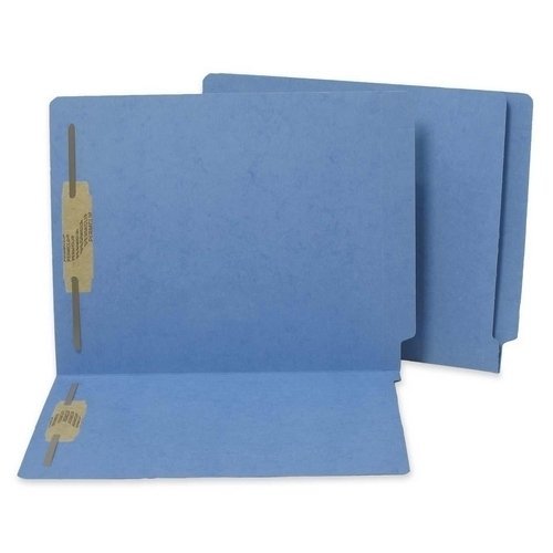 S J Paper WaterShed CutLess Colored Reinforced End Tab File Folders With Fasteners