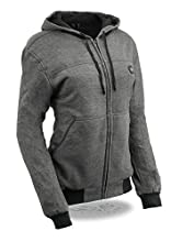 Milwaukee Performance-Women Zipper Front Heated Hoodie w/Front & Back Heating Elements and portable battery pack included-GREY-XS 2713