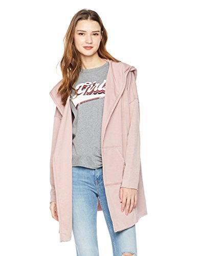 Rebel Canyon Women's Young Long Sleeve FR Terry Hooded Open Front Cardigan Small Woodrose (Hooded Top Terry)