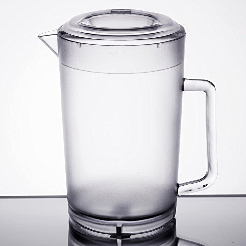 - 64 oz. Clear Plastic Pitcher with lid, Dishwasher Safe, Break Resistant, for Indoor and Outdoor Entertaining, by GET P-3064-1-CL-EC (Pack of 1)