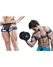 Occlusion Training Bands by BFR Bands, PRO Model, 2 Pack, Blood Flow Restriction Bands Give Lean & Fast Muscle Growth without Lifting Heavy Weights - Strong Elastic Strap + Quick-Release Cam Buckle