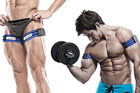 BFR Bands Occlusion Training Bands, PRO, 1 Set of Bands, Works For Arms OR  Legs, Blood Flow Restriction Bands Help Gain Muscle without Lifting Heavy
