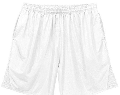 Elastic Shorts Waist Canvas (Badger Sportswear Men's Elastic Waist Trainer Short, White, Large)