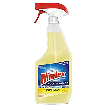 detailing d6d1f 7e6a5 Windex 679594 Antibacterial Multi-Surface Cleaner, Lemon Scent, 23 oz Spray  Bottle (Case of 8)