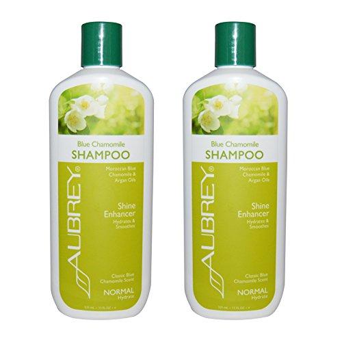 Aubrey Organics Blue Chamomile Shampoo Shine Enhancer With Moroccan Blue Chamomile and Argan Oils, Normal, 11 fl oz (325 ml) (Pack of (Aubrey Blue Shampoo)