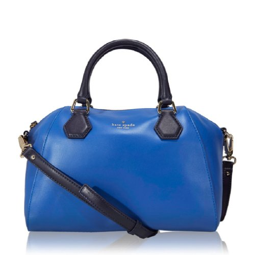 Kate Spade Catherine Street Pippa Bluebell Leather - Christian Dior Designer Purse